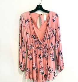 floral printed woven romper