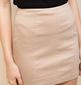 honey punch lavender mini skirt