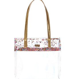 packed party multi confetti stadium tote bag