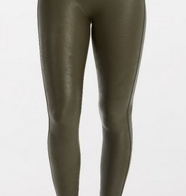 spanx olive faux leather legging