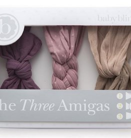 Baby Bling Three Amigas: lilac/mauve dot/blush-taupe
