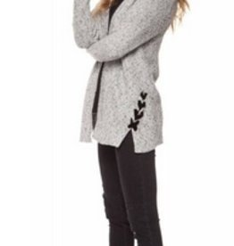 dex open cardigan with side tie