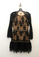 alma woven lace dress