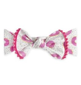 Baby Bling trimmed printed knot: sprinklicious