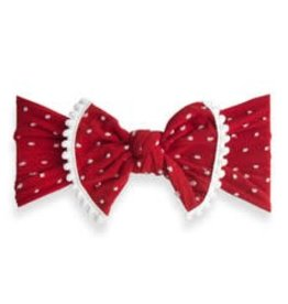 Baby Bling trimmed patterned shabby knot: cherry dot