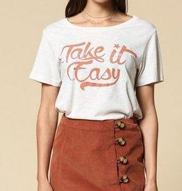 take it easy cotton tee