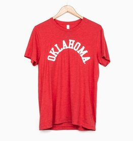 LivyLu red flocked oklahoma tee