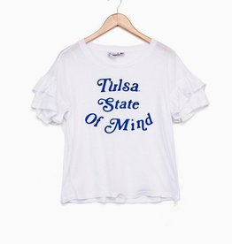 LivyLu tulsa state of mind ruffle tee