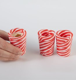 two's company peppermint shot glasses