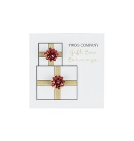 two's company gift bow stud earring