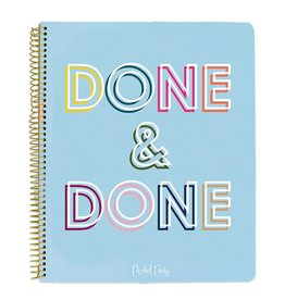 packed party done & done notebook