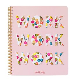 packed party sequin work notebook