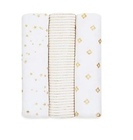 aden+anais metallic gold deco 3 pack classic swaddles