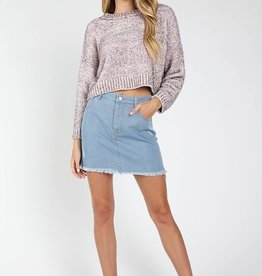 party time knit crop sweater