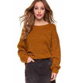 dex pearl studded sweater