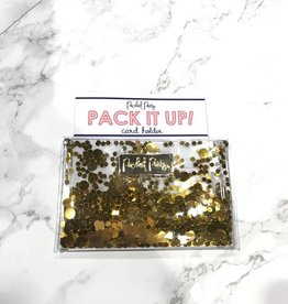 packed party gold confetti card holder