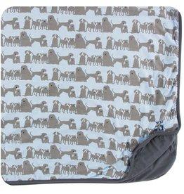 kickee pants london dogs print toddler blanket