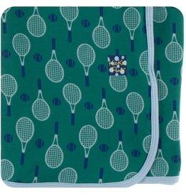 kickee pants ivy tennis print swaddling blanket