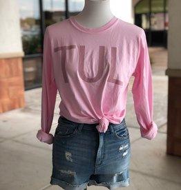 long sleeve pink TUL tee