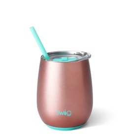 swig swig 14oz wine tumbler- rose gold