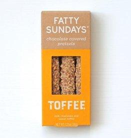 fatty sundays toffee-milk choc and sweet toffee pretzels