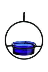 Bird Feeder, Sphere Hanging, Cobalt Glass, GC, COURM04520015