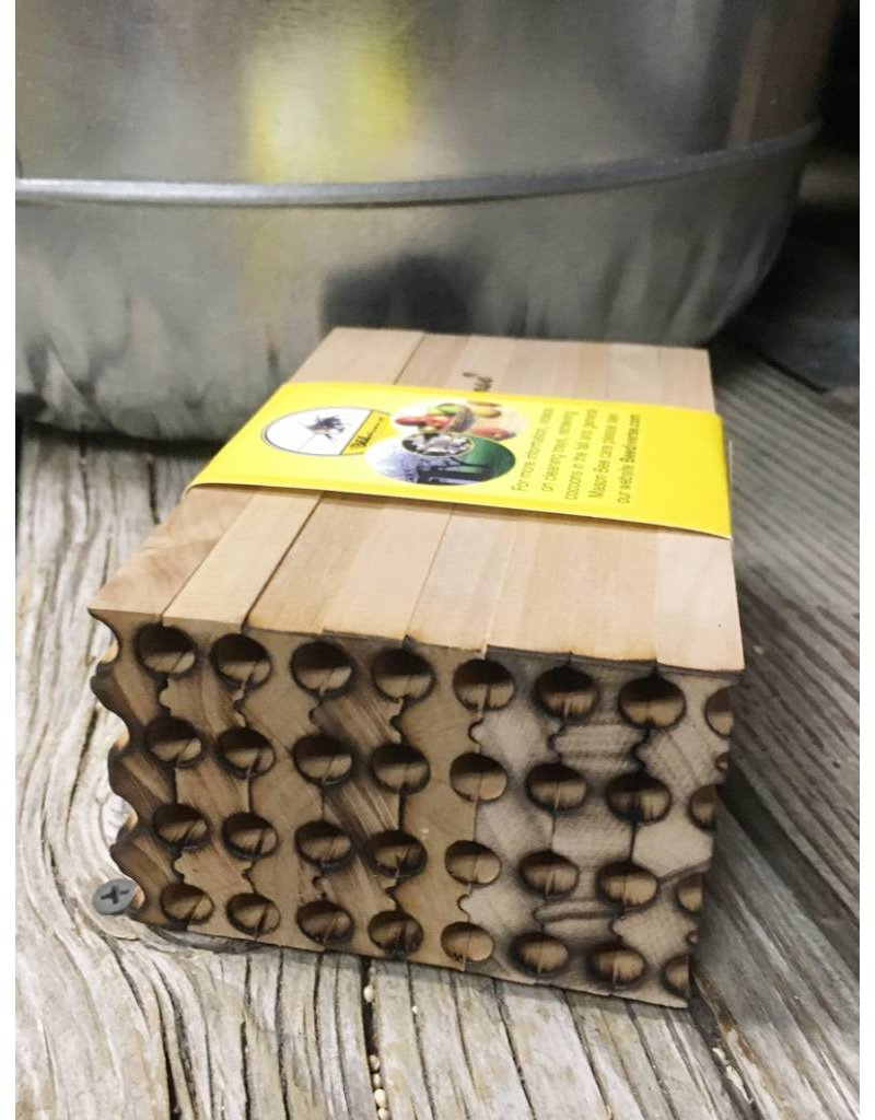 Mason Bee, Wood Nest Block, 28 Holes, Beediverse