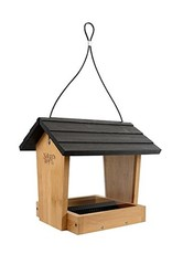 Bird Feeder, Bamboo, Hopper 4 qt., NWBWF15