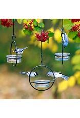Hummingbird Feeder, Red Glass Lids, Sphere, PRTL001