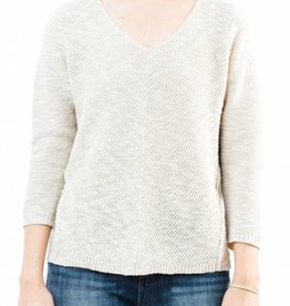 HABITAT DIAGONAL STITCH V-NECK SWEATER
