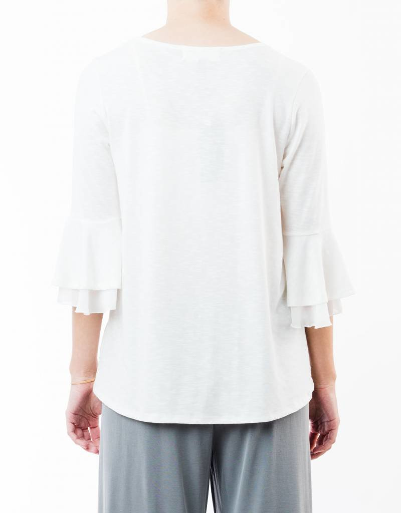 SINUOUS BELL SLEEVE TOP