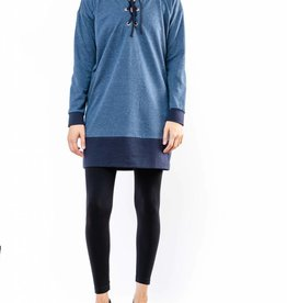 MYSTREE EYELET NECK TUNIC