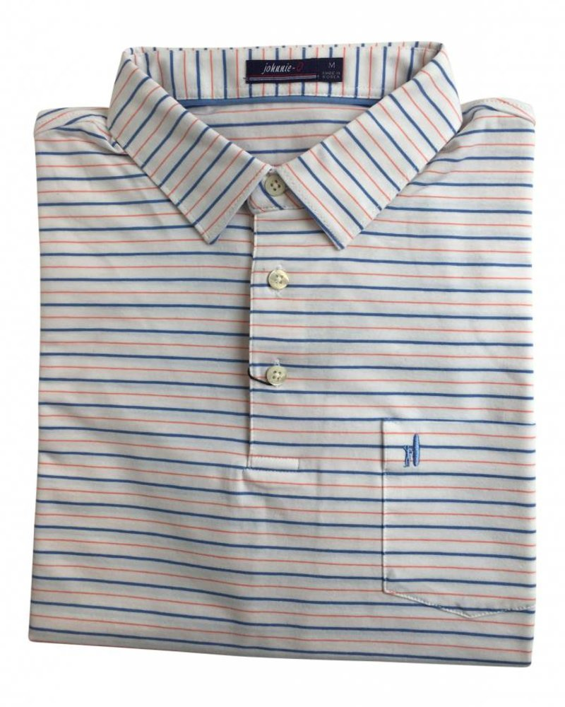 Johnnie-O Johnnie-O Finch Striped 3-Button Polo