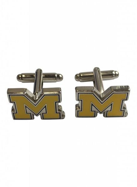 M Brand Cuff Links Block M