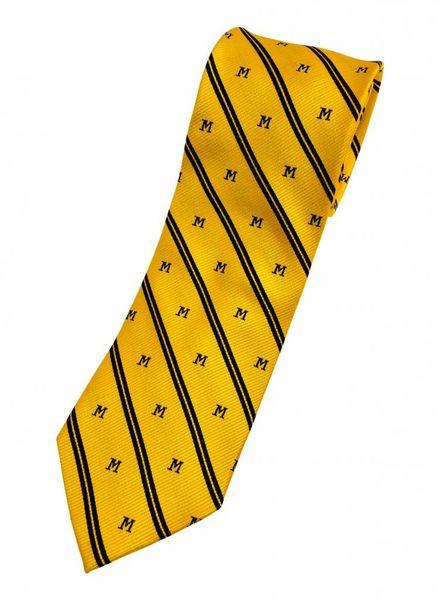 A. Christensen A. Christensen M Silk Tie Stripe - Maize
