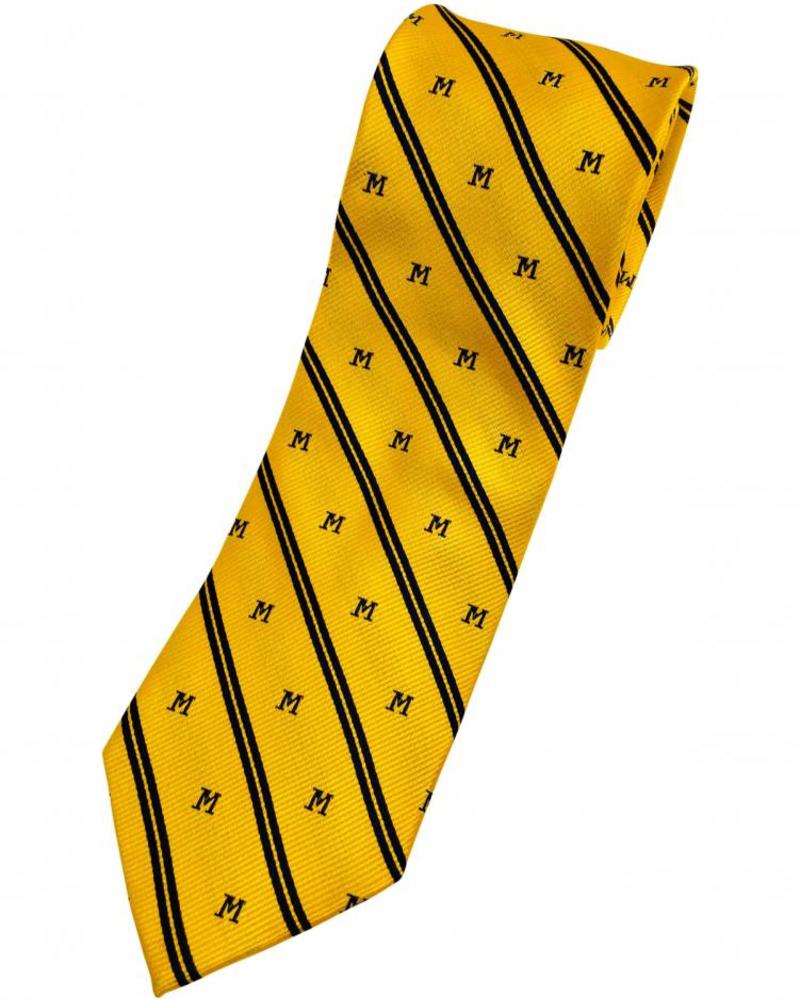 A. Christensen A. Christensen M Silk Tie Stripe - Maize