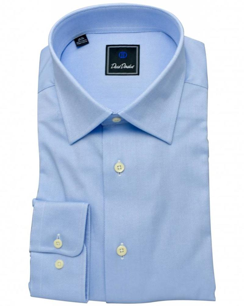 David Donahue David Donahue Spread Collar Dress Shirt - Blue/White