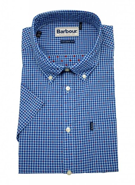 Barbour Barbour Hector Short Sleeve Shirt - Mid Blue