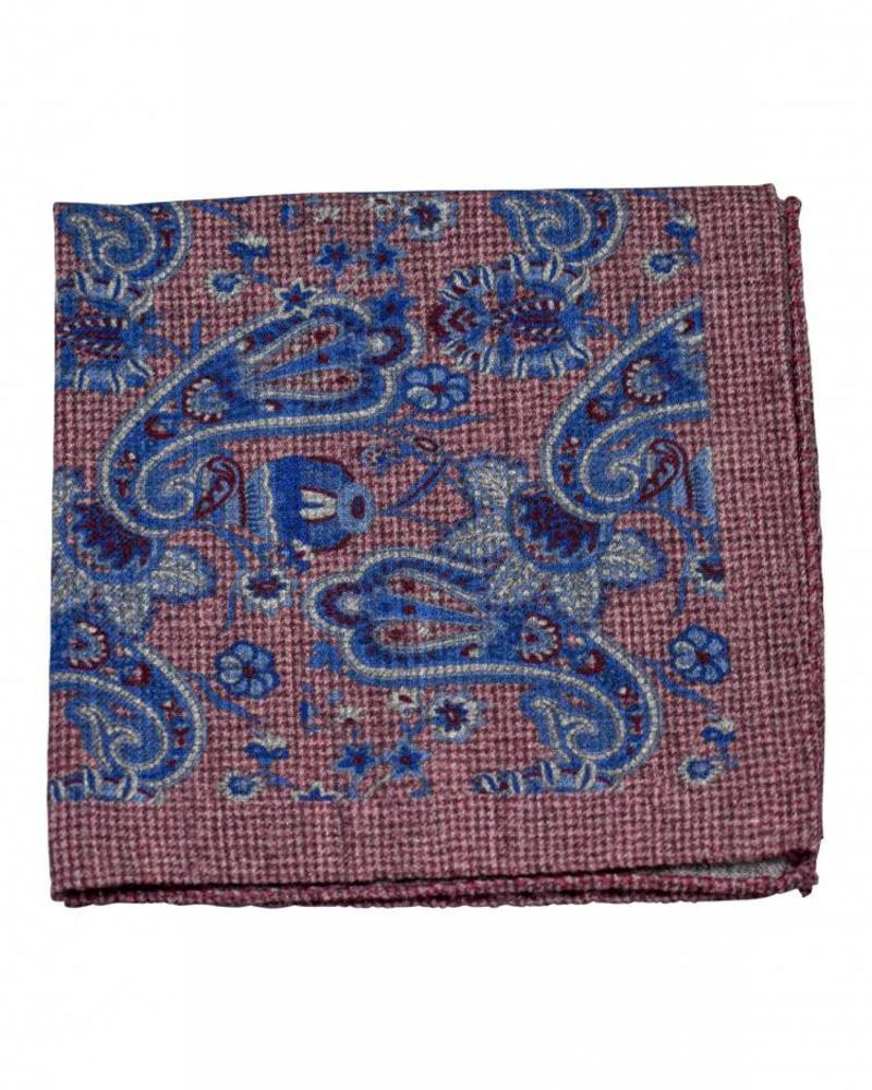A. Christensen A. Christensen Wool Pocket Square - Burgundy