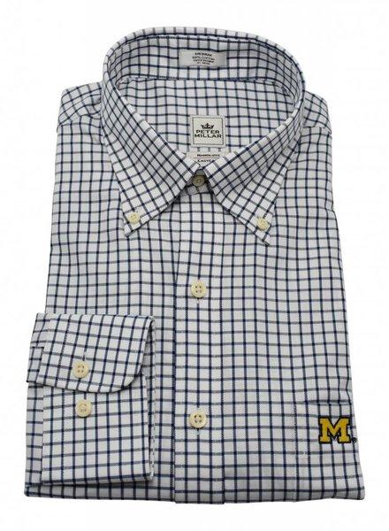 Peter Millar Peter Millar M Nanoluxe Twill Check Sport Shirt