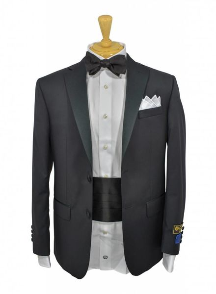David Donahue David Donahue Classic Fit Loro Piana Wool Notch Lapel Tuxedo