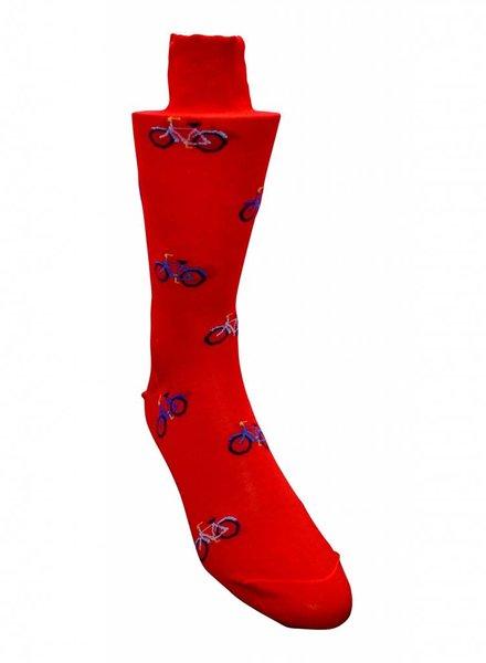 Marcoliani Marcoliani Italian Garden Cotton-Blend Sock - Red