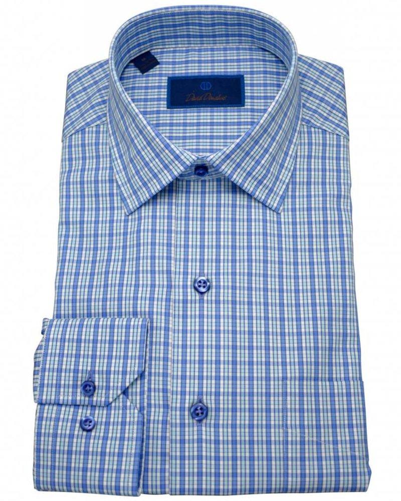 David Donahue David Donahue Sport Shirt - Blue/Check