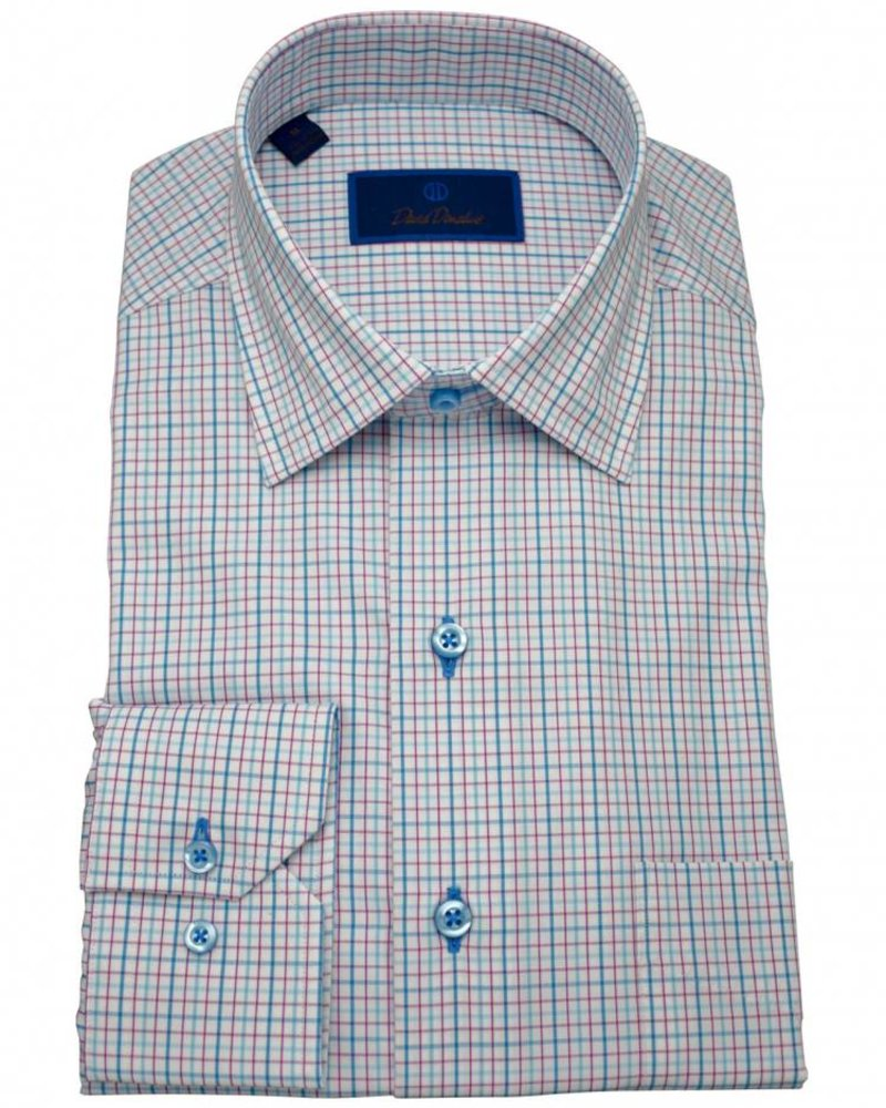 David Donahue David Donahue Spread Collar Sport Shirt