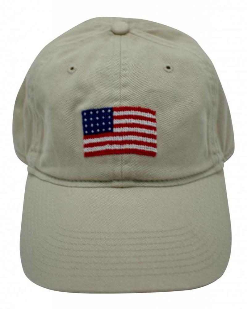 Smathers & Branson Smathers & Branson Needlepoint Hat - Flag