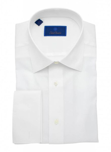 David Donahue David Donahue French Cuff Regular Fit Formal Shirt