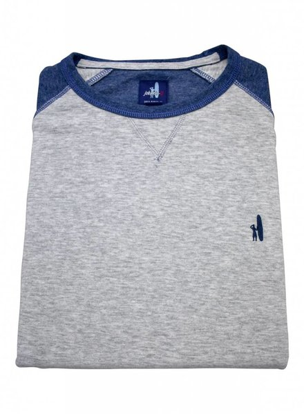 Johnnie-O Johnnie O Crew Neck Sweater - Grey/Blue