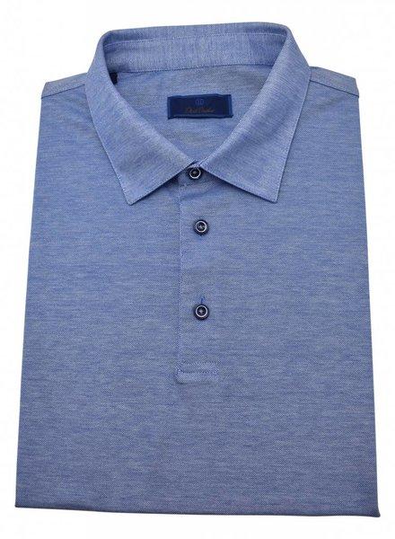 David Donahue David Donahue Cotton Pique Short Sleeve Polo