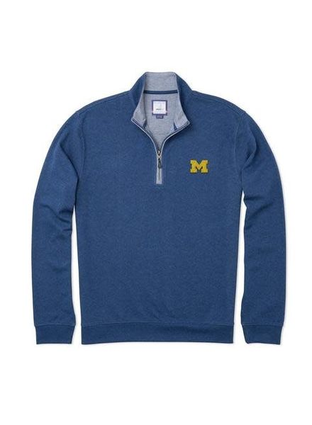 Johnnie-O Johnnie-O Sully Michigan 1/4 Zip Pullover - Helios Blue