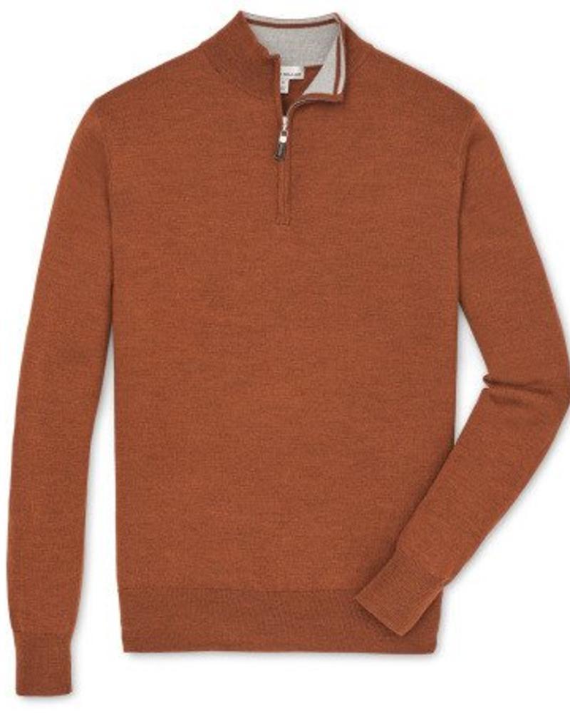 Peter Millar Peter Millar Crown Soft Quarter Zip Sweater - Hickory